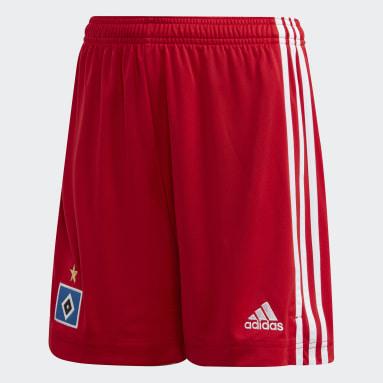 Kids Football Red Hamburger SV 20/21 Home Shorts