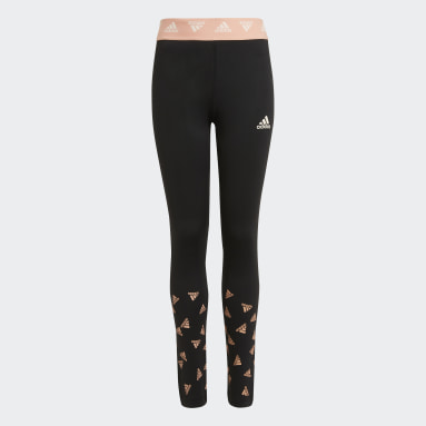 Youth 8-16 Years Gym & Training Black AEROREADY Up2Move Cotton Touch Training Stretch Leggings