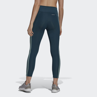 Tight 7/8Design To Move High-Rise3-Stripes Turquoise Femmes Fitness Et Training