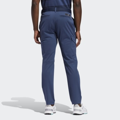 Men Golf Blue Warp knit Cargo Tracksuit Bottoms