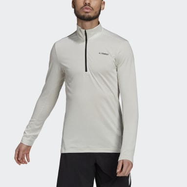 Men TERREX Grey Terrex Everyhike Half-Zip Fleece Jacket