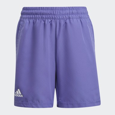 Youth 8-16 Years Tennis Purple Club Tennis Shorts