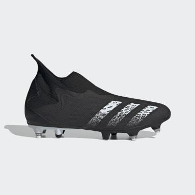 Fußball Predator Freak.3 Laceless SG Fußballschuh Schwarz