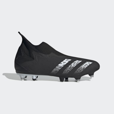 Fodbold Sort Predator Freak.3 Laceless Soft Ground støvler