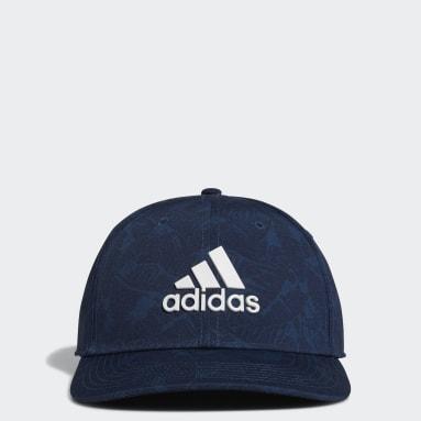 Men Golf Blue Tour Print Hat
