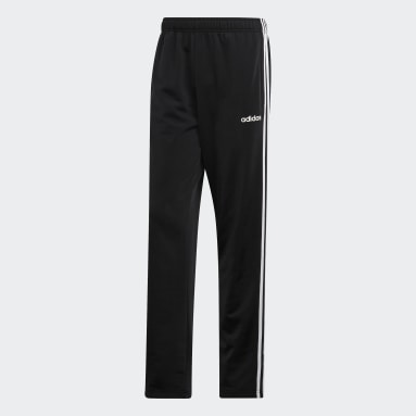 Men Gym & Training Black 3-Stripes Pants
