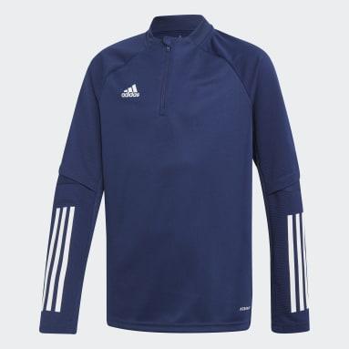 Sudadera entrenamiento Condivo 20 Azul Niño Fútbol