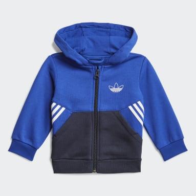 Deti Originals modrá Súprava adidas SPRT Collection Full-Zip Hoodie