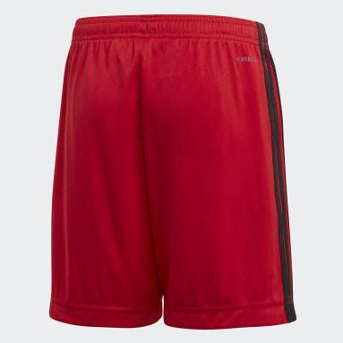Kids Football Red Belgium Home Shorts