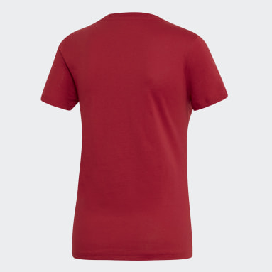 Women Lifestyle Burgundy Essentials Linear Tee