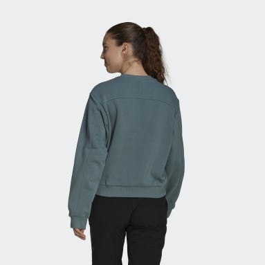 Dames Five Ten Groen Five Ten Cropped Sweatshirt
