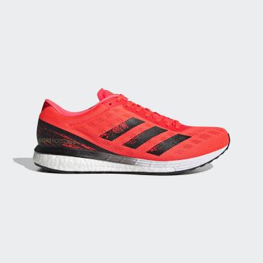 Sapatos Adizero Boston 9 Laranja Homem Running