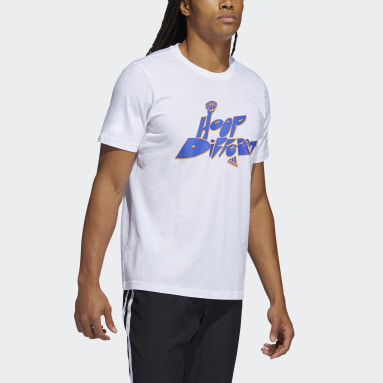 T-shirt Born Different Graphic Bianco Uomo Basket