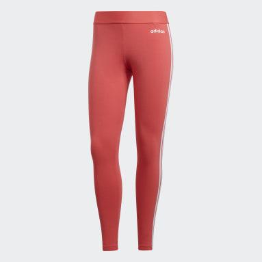 Mallas Essentials 3 Franjas - Corte Bajo Rosa Mujer Training
