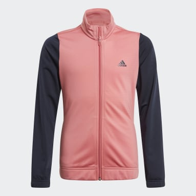 Youth Training Pink adidas Essentials Track Suit