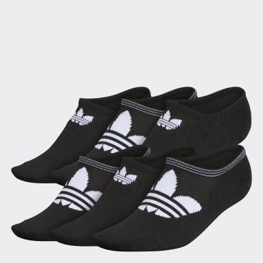 Women's Originals Black Trefoil Superlite Super-No-Show Socks 6 Pairs