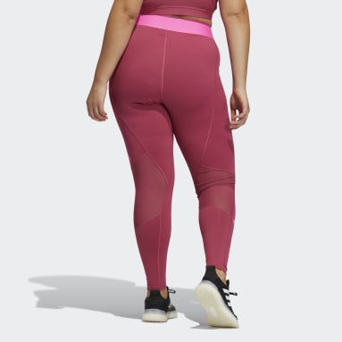 Tight lunghi Techfit Life Mid-Rise Badge of Sport (Taglie forti) Rosa Donna Fitness & Training