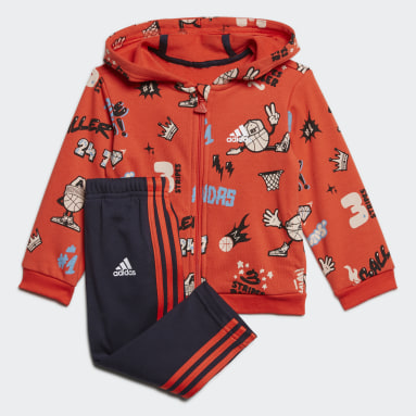 French Terry Graphic Track Suit (UNISEX) Granate Niño Training