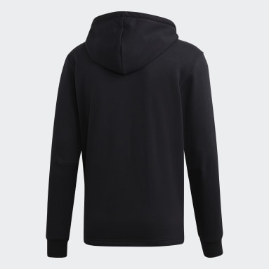 Men Sportswear Black Must Haves 3-Stripes French Terry Hoodie