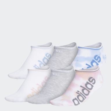 Women's Training Pink Linear Superlite Color Wash No-Show Socks 6 Pairs