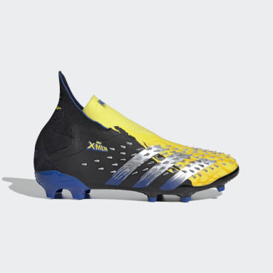 Kids 4-8 Years Football Yellow Marvel Predator Freak+ Firm Ground Boots