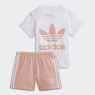Infant & Toddler Originals White Trefoil Shorts Tee Set
