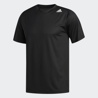 Camiseta FreeLift Sport Fitted 3 Rayas Negro Hombre Training