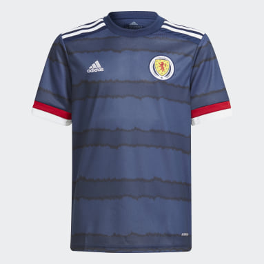 Youth 8-16 Years Football Blue Scotland 20/21 Home Jersey