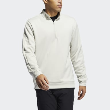 Men Golf Beige Adicross Quarter-Zip Sweatshirt