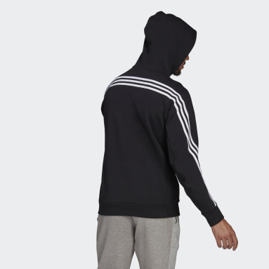 Men's Sportswear Black adidas Sportswear 3-Stripes Hooded Track Top