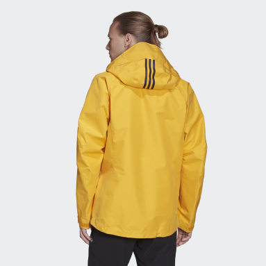 Men TERREX Yellow Terrex Techrock GORE-TEX PRO Rain Jacket