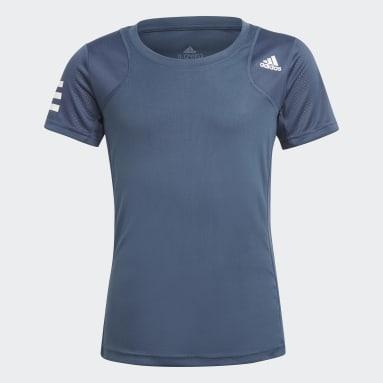 Meisjes Tennis Blauw Club Tennis T-shirt