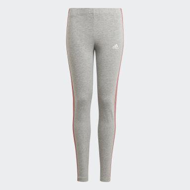 Mädchen Sportswear adidas Essentials 3-Streifen Leggings Grau