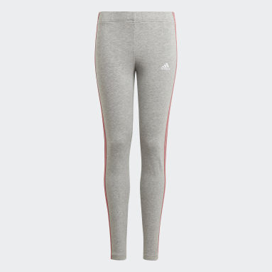 Leggings adidas Essentials 3-Stripes Grigio Ragazza Sportswear