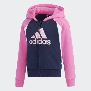 Children Training Pink French Terry Hoodie
