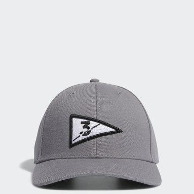 Men Golf Grey Golf Flag Hat