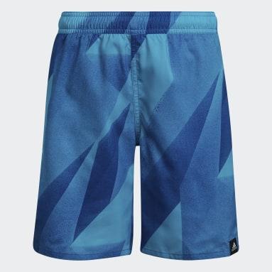 Boys Swimming Turquoise Boys Graphic Swim Shorts