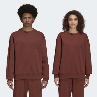 Originals Brown Pharrell Williams Basics Crew Sweatshirt (Gender Neutral)