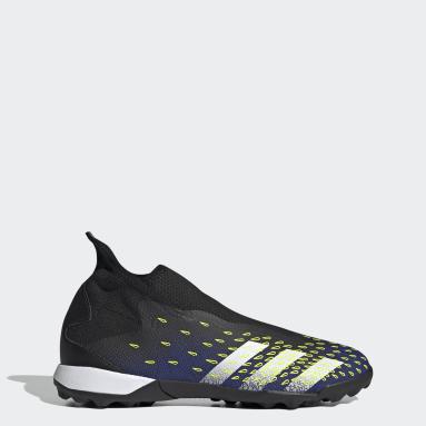 Football Black Predator Freak.3 Laceless Turf Boots