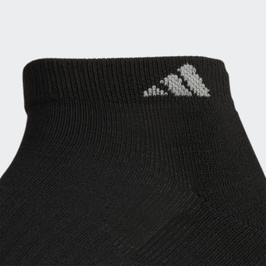 Men's Basketball Black Athletic Cushioned Low-Cut Socks 6 Pairs