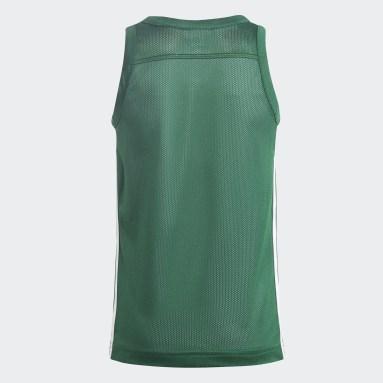 Kids Basketball Green 3G Speed Reversible Jersey