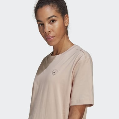 T-shirt Cotton Rose Femmes adidas by Stella McCartney