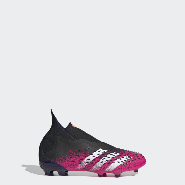 Children Soccer Black Predator Freak+ Firm Ground Cleats