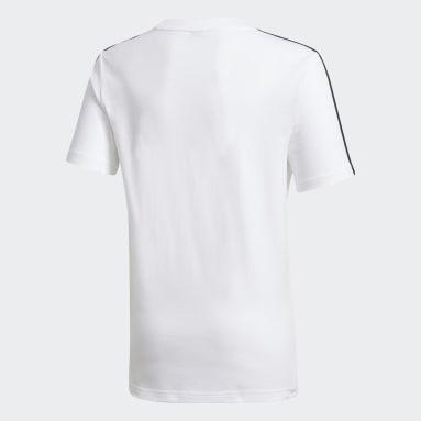 T-shirt Karate Blanc Garçons Fitness Et Training