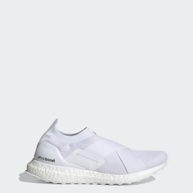 Women Running White Ultraboost Slip-On Swarovski® DNA Shoes