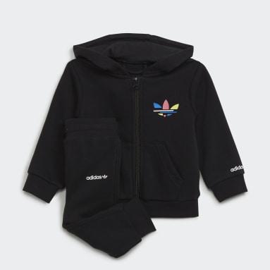 Kids Originals Black Adicolor Full-Zip Hoodie Set