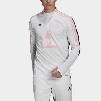 Men Football White Juventus Human Race Training Top