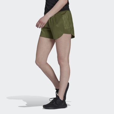 Women Running Green Made To Be Remade Running Shorts