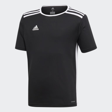 Youth 8-16 Years Gym & Training Black Entrada Jersey