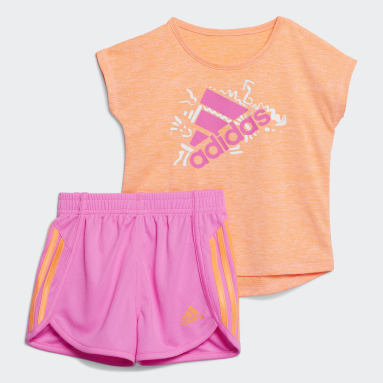 Infant & Toddler Training Orange Sport Tee and Shorts Set